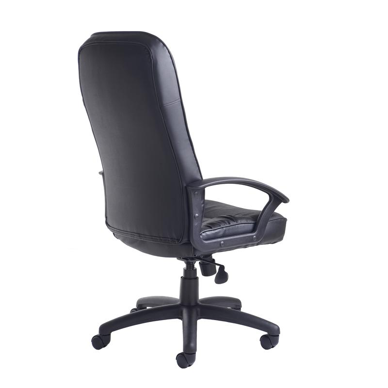 king high back managers chair black leather faced office friends