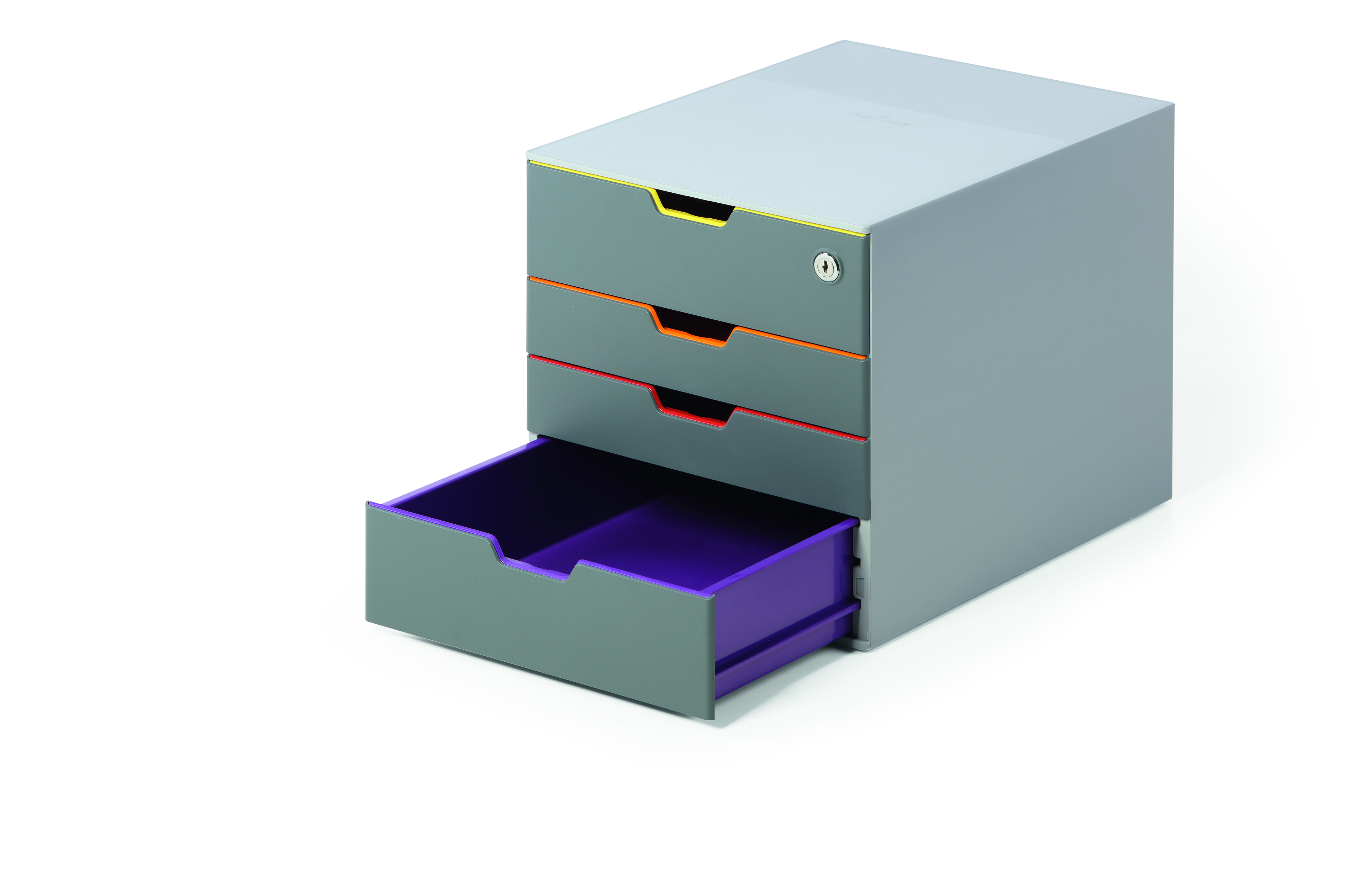 Durable Varicolor Safe 4 Drawer Box With Lockable Top