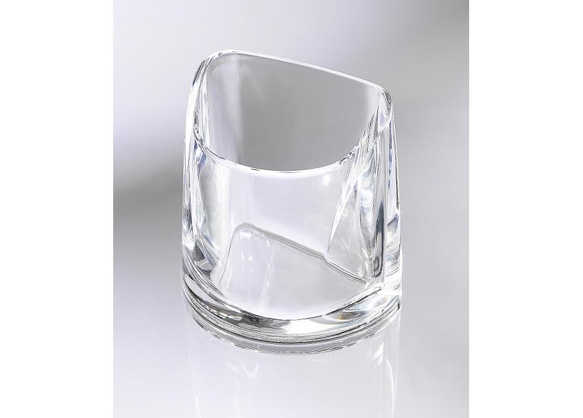 Rexel Nimbus Acrylic Pencil Cup Clear 2101502 Acs