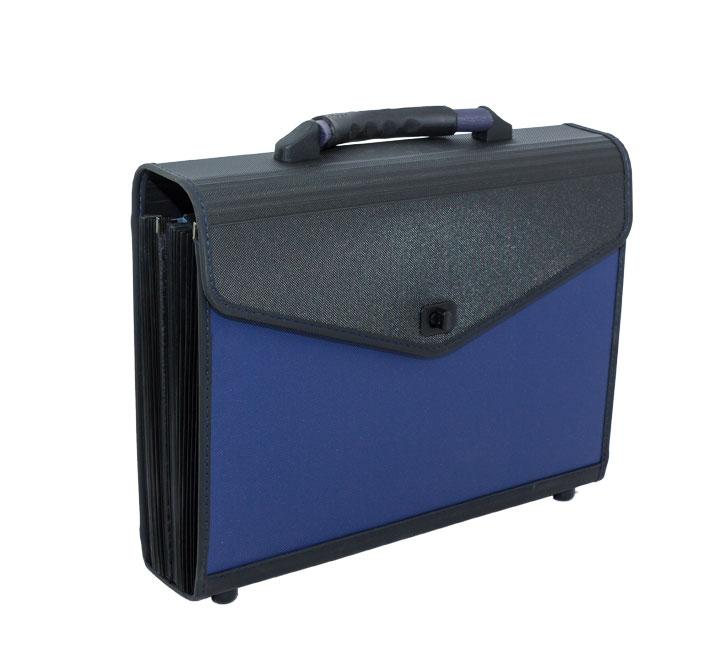 Concord Expanding Organiser File Polypropylene 13 Part Blue /& Black