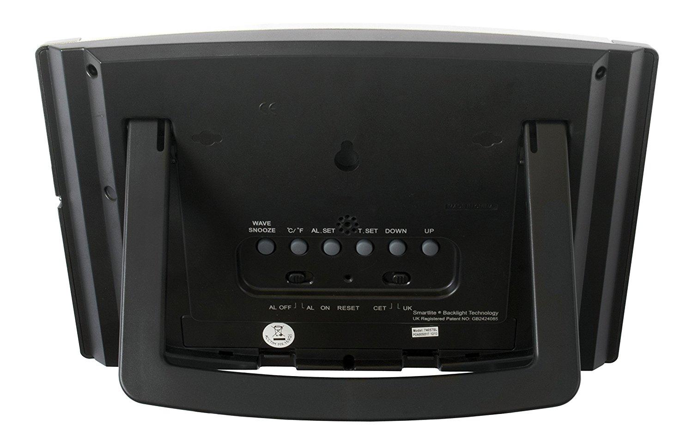 Acctim Stratus Radio Control Lcd Wall Clock Silver 74057sl Asap