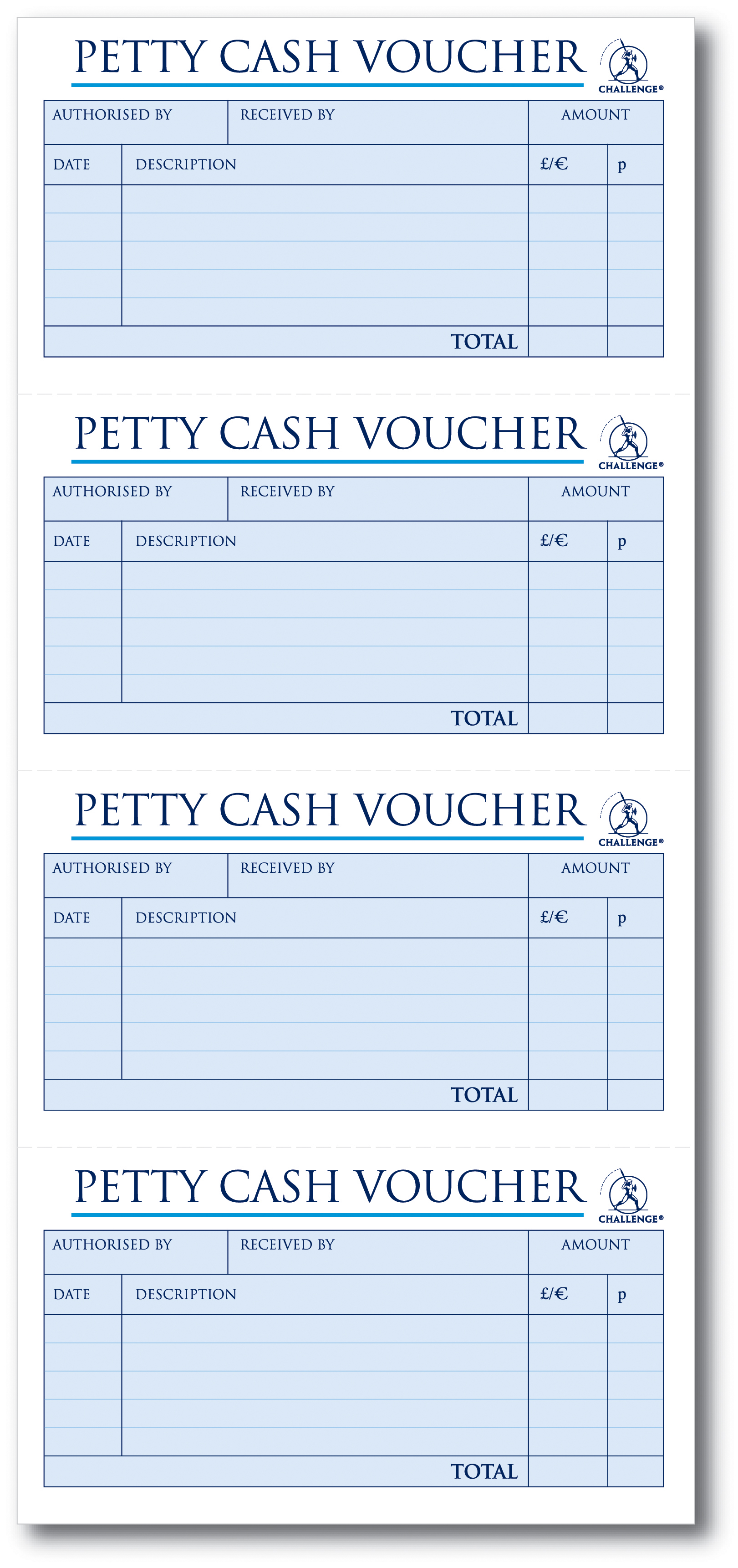 challenge petty cash book 200 duplicate slips 280x141mm