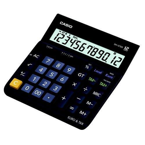White calculator Desktop, Basic, 12 digits, 1 lines, Battery//Solar, Black, White calculators Casio MH-12-WE Desktop Basic Black