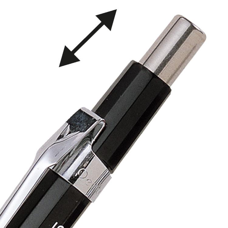 Pack of 12 P205 Pentel P200 Automatic Pencil 0.5mm Black Barrel