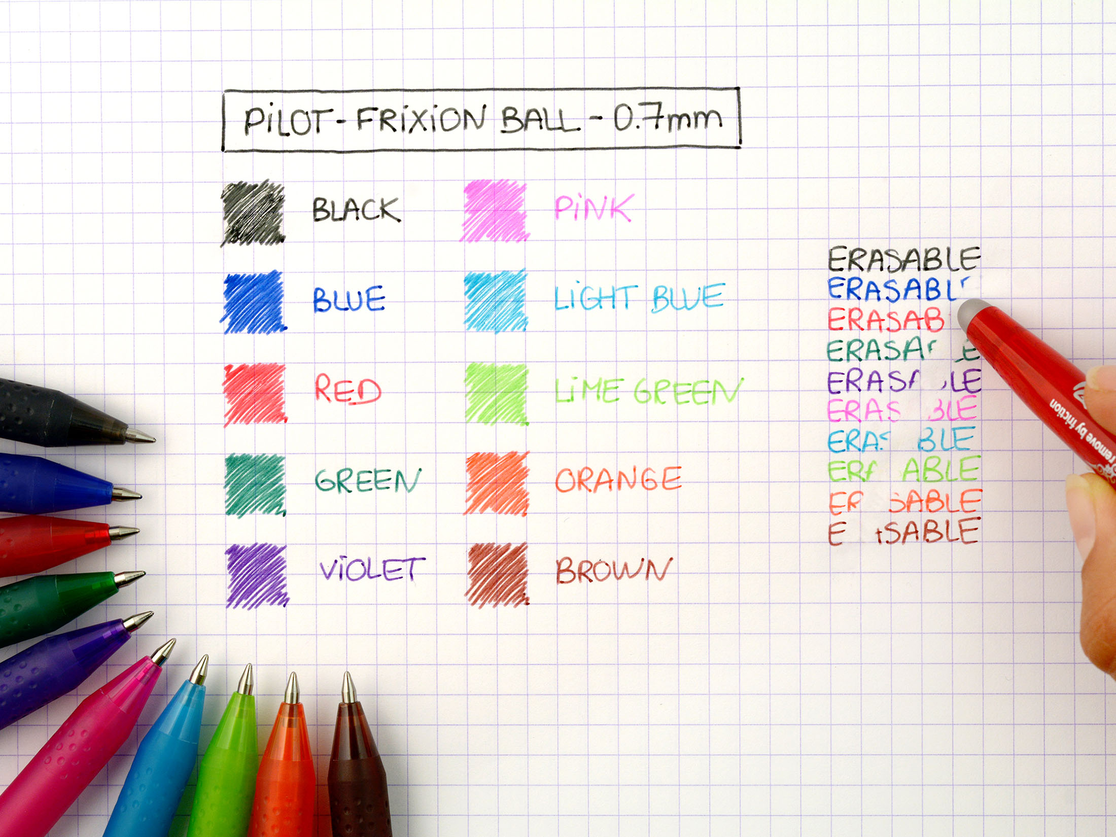 Pilot Frixion Erasable Black Rollerball Pen Pack Of 12 224101201 Rollarball Fountain Diagram A Image