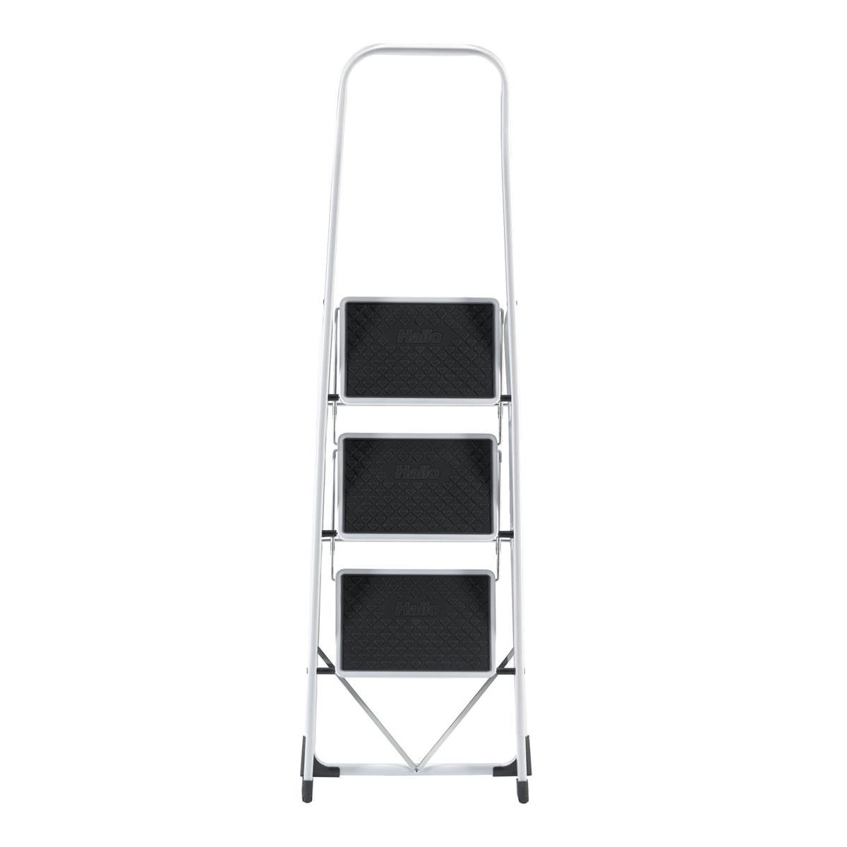 5 Star Step Stool Mobile Spring-loaded Castors up to 150kg Top D290xH430xBase D435mm 5kg Black