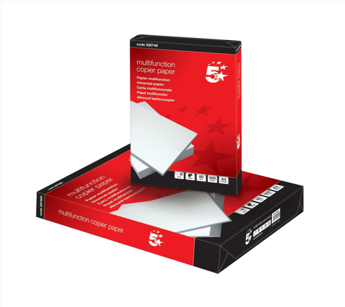 5 Star Copier Paper Multifunctional Ream Wrapped 80gsm A4