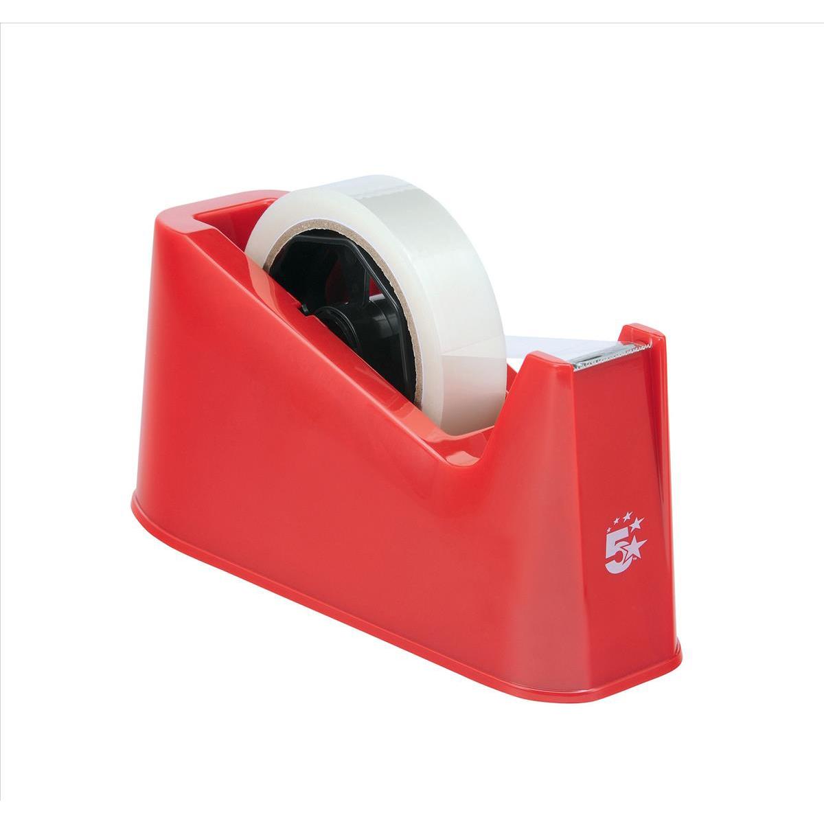5 Star Office Tape Dispenser Desktop Weighted Non Slip
