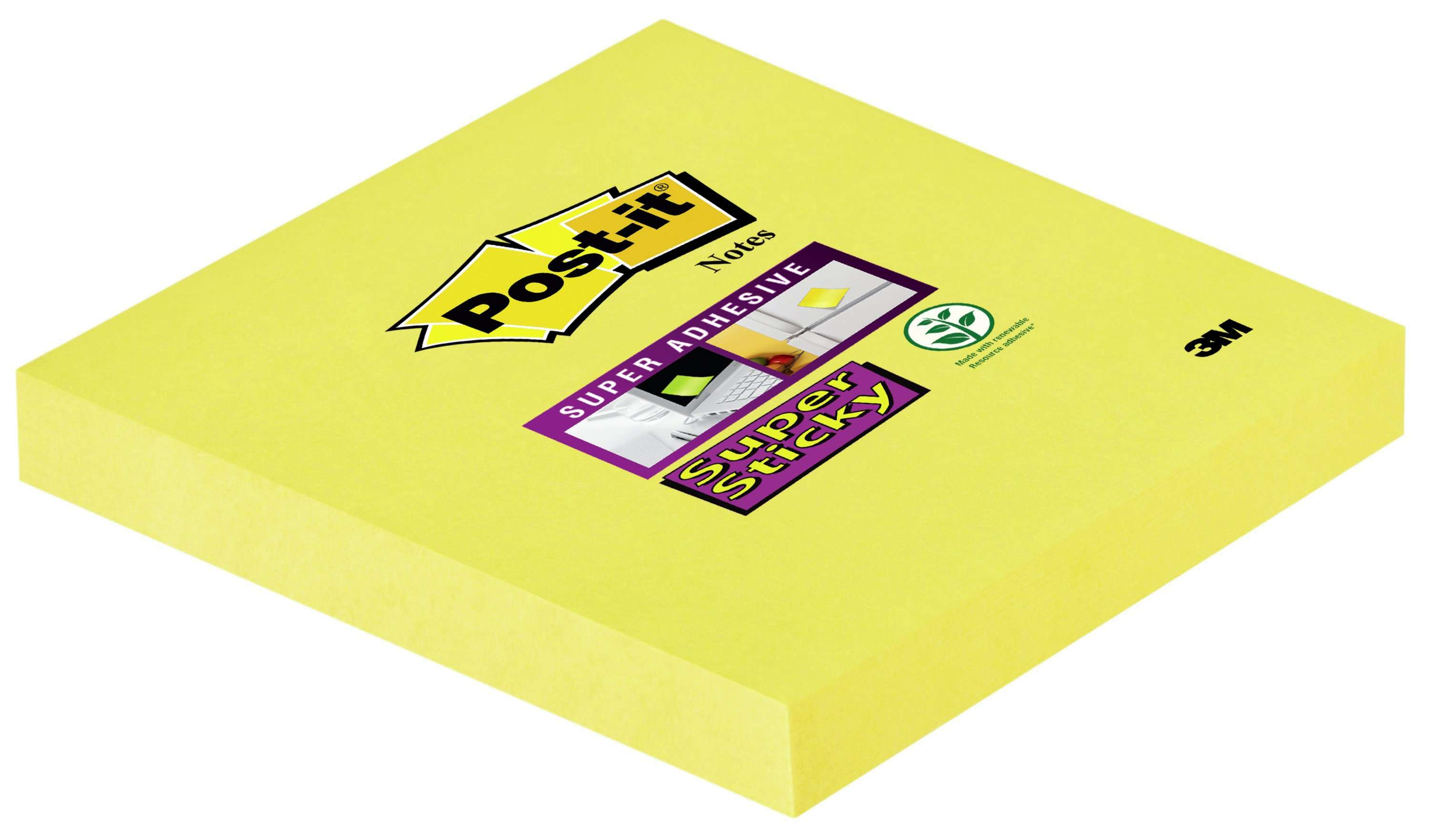 Post-it Super Sticky Notes 76x76mm 90 Sheets Ultra Yellow (Pack 12)