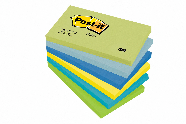 Coloured Post-it Dreamy Colours Notes 76x127mm 655MT PK6