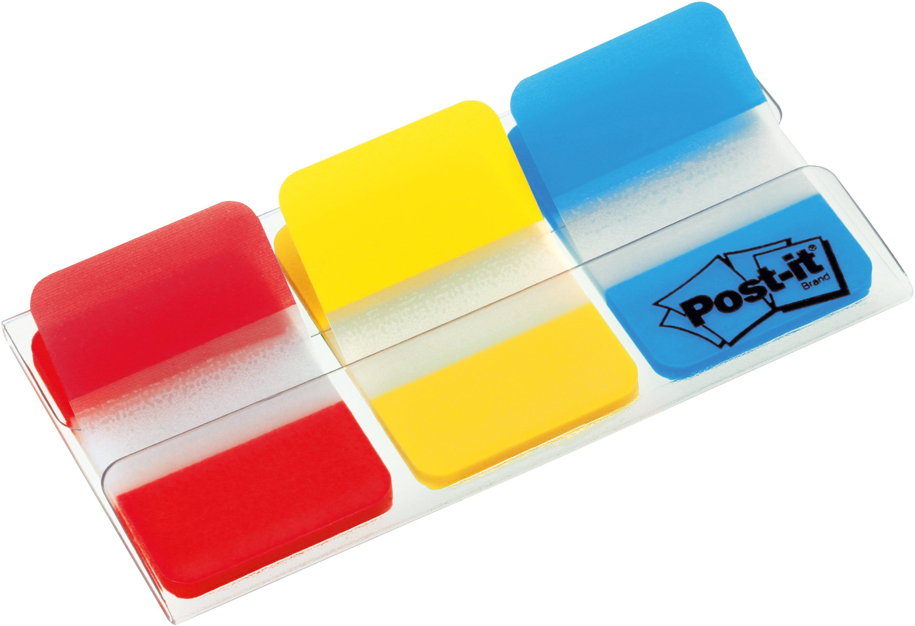 Post-it Index Flags Strong Repositionable 25x38mm 3x22 Tabs Red Yellow Blue (Pack 66) 686-RYB