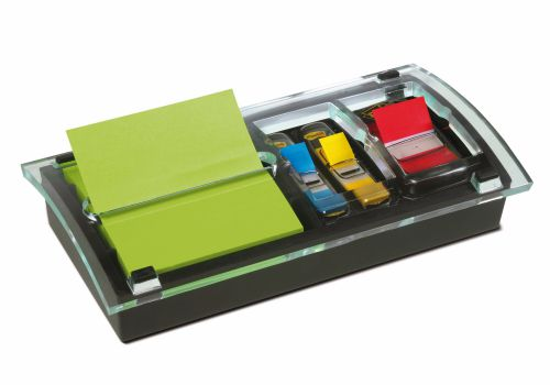 3M Post-it Z-Note 76x76mm Neon & Post-it Index 25mm Red & Designer Dispenser DS100-VP