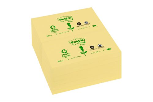 Post-it Notes 76x127mm Canary Yellow PK12