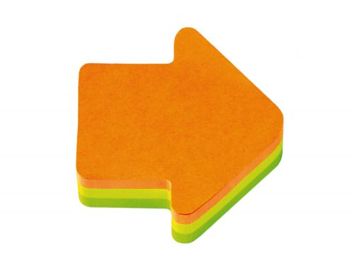 Post-it Arrows Block Pad 70x70mm Neon Orange/Green Ref 2007A