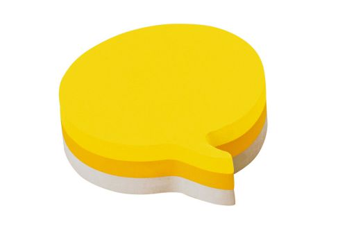 3M Post-it Note Shape Pad Speech Bubble Yellow/Grey Rainbow (12) 2007SP