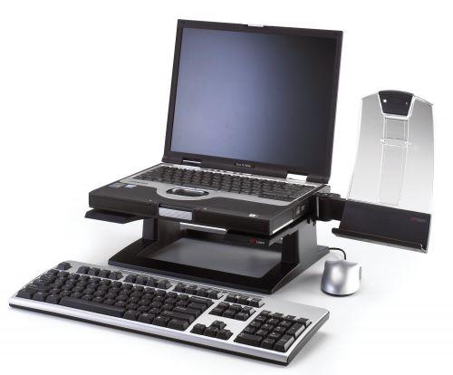 3M Notebook Riser Ergonomic Black Ref LX500
