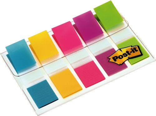 3M Post-it Small Index Flags 12mm Portable Pack 5 Colours 683-5CB