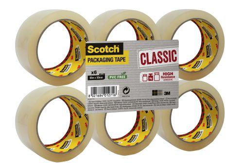 Scotch Classic Packaging Tape 50mmx66m Clear Ref CL5066F6T [Pack 6]