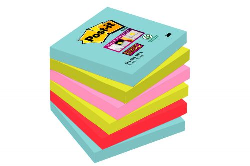 Post-It Super Sticky Notes Miami 76mmx76mm PK6