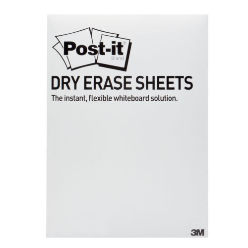 Post-it Dry Erase White Sheets 279 x 390mm (Pack of 15) DEFPACKL-EU