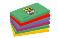 Post-it Super Sticky Removable Notes Pad 90 Sheets 76x127mm Marrakesh Ref 655-6SS-MAR-EU [Pack 6]