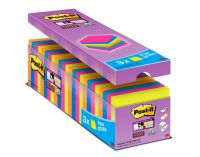 Post-it Super Sticky 76x76mm Assorted (Pack of 24) 654-SS-VP24COL-EU