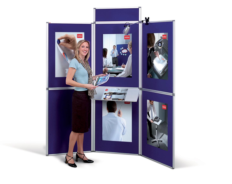 Nobo ProPanel Display System 6 Panel Blue
