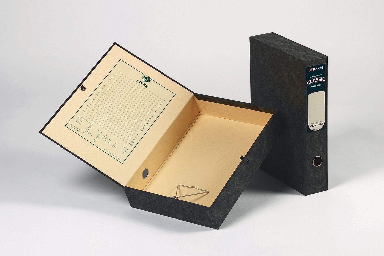 Box Files Rexel Classic Lock Spring Box File A4 Plain PK5