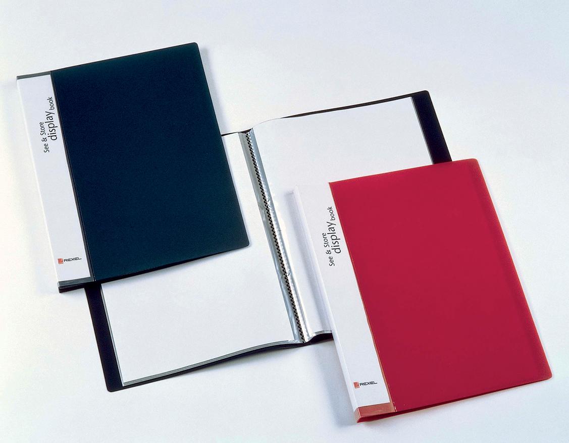 Rexel See n Store Book 40 Pocket Black 10560BK