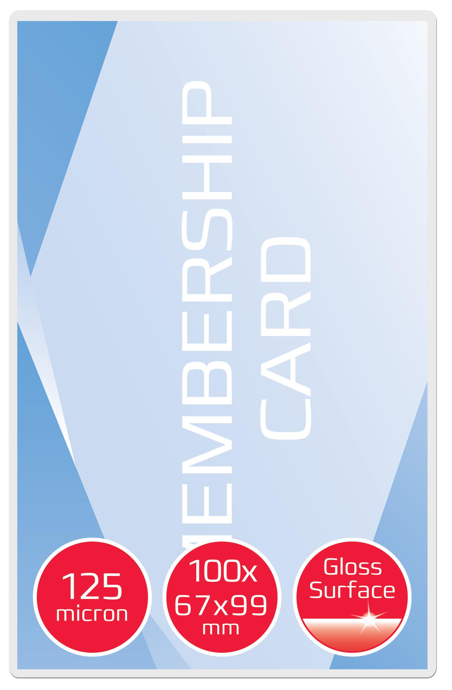 GBC Card Pouch Gloss 67x99mm 125 micron PK100