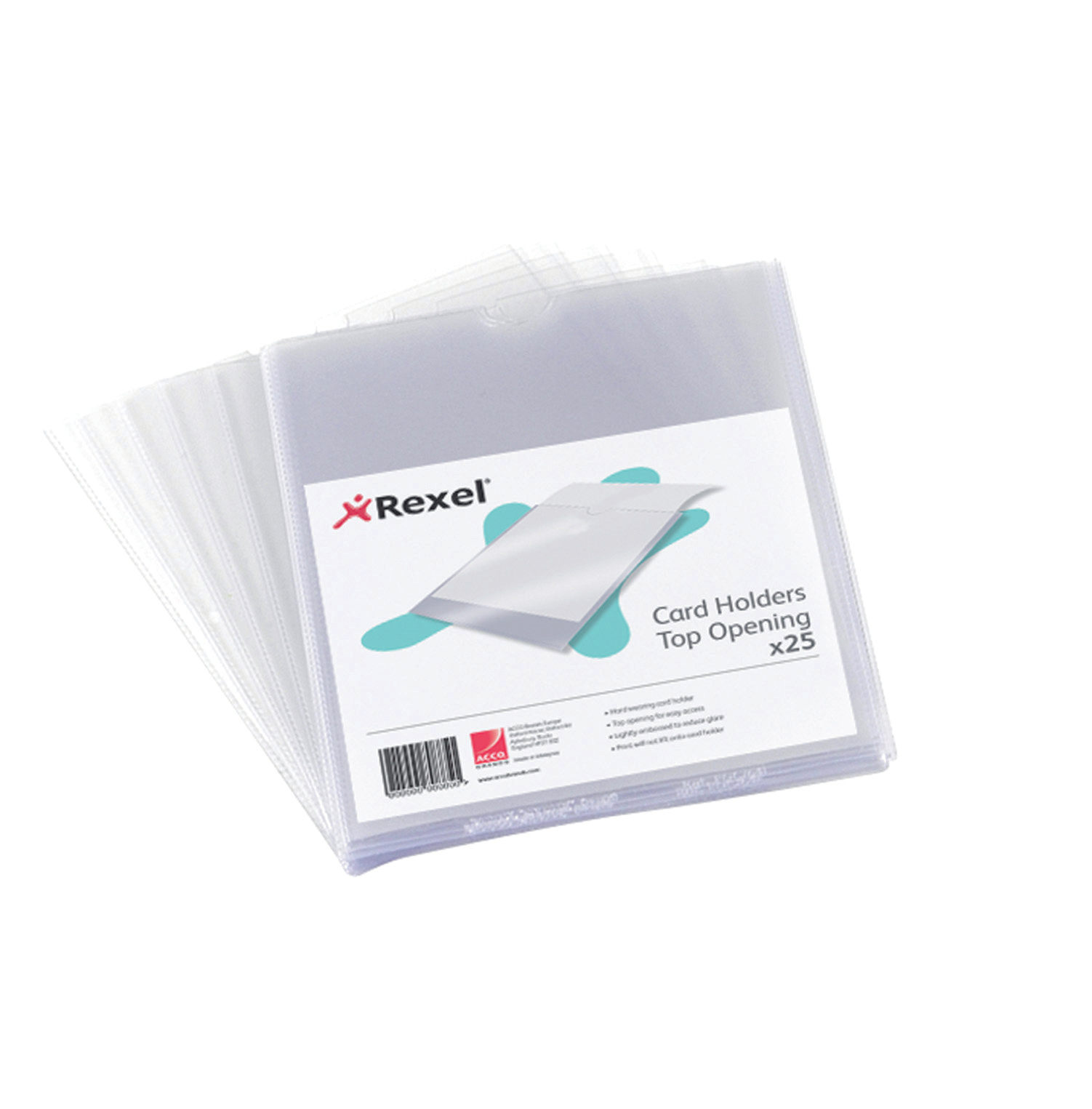 Card Holders Rexel Nyrex Card Holder Polypropylene 152x102mm Top Opening Clear (Pack 25) 12030