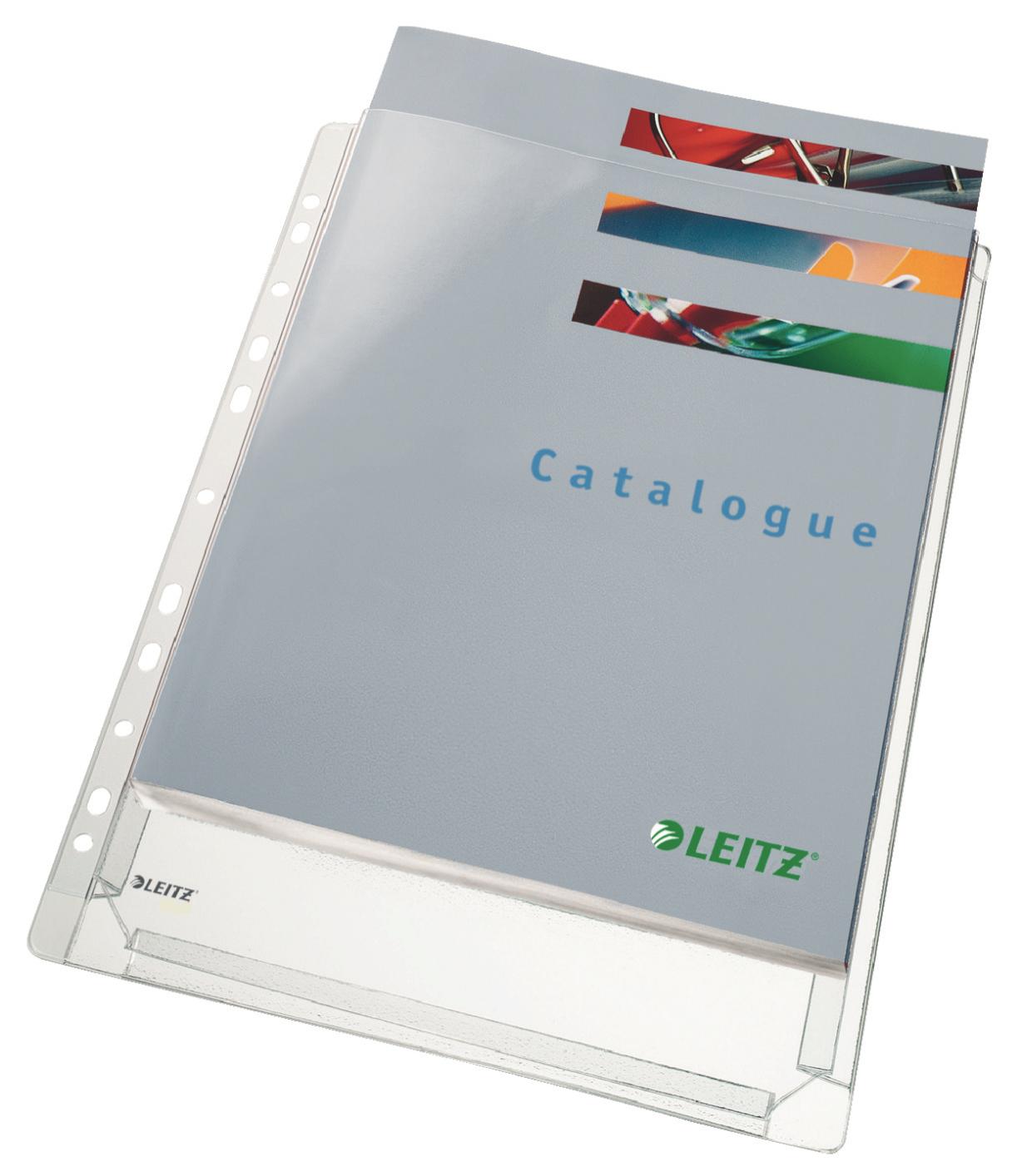 Plastic Pockets Leitz Expanding Pocket Clear A4 170 Micron 47188 PK5