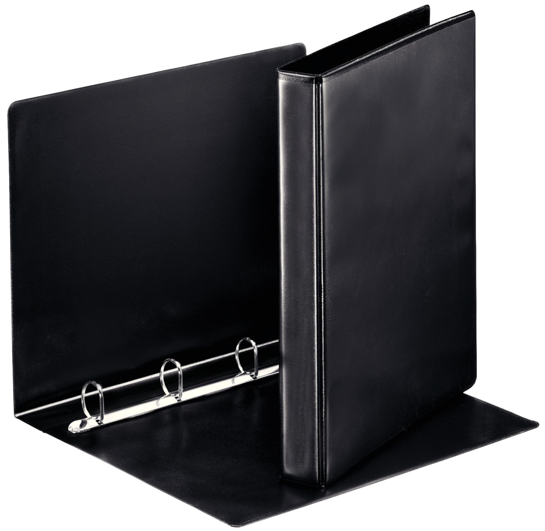 Esselte Essentials Pres Binder A4 25mm 4 D-Ring BK PK10