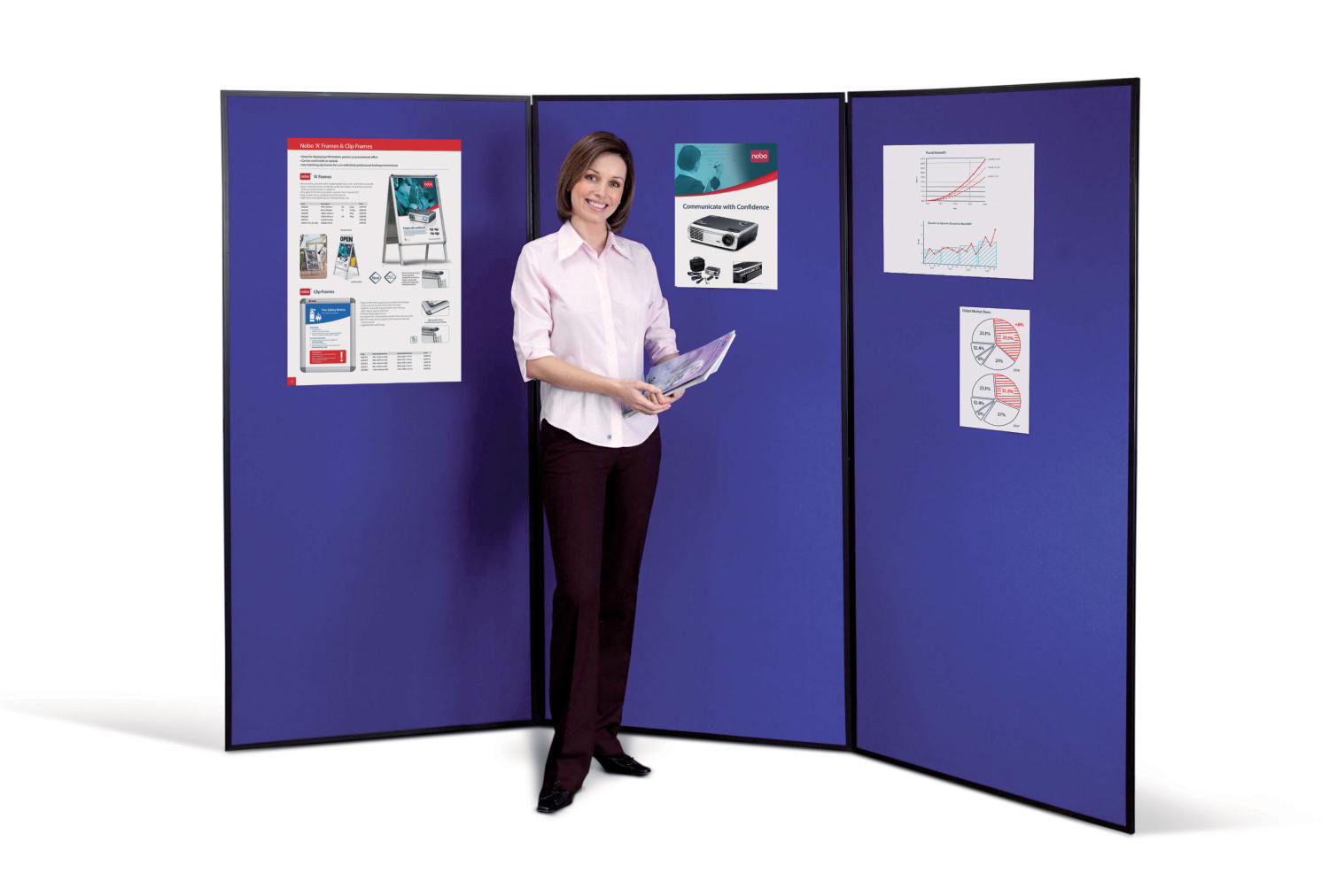 Display Panels Nobo Showboard Extra 4 Panel