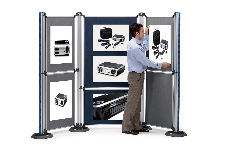 Nobo Modular Display System Upright and Base for Modular Display Panels