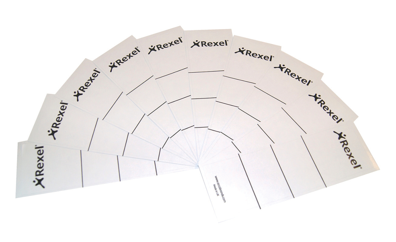 Rexel Colorado Self Adhesive Lever Arch Spine Labels PK10