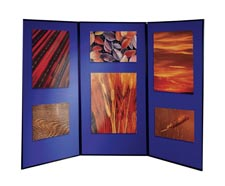 Image for Nobo Showboard Extra Display 3 Panels 9.5Kg W1800xH2700mm-Open Sides Blue and Grey Ref 1901710