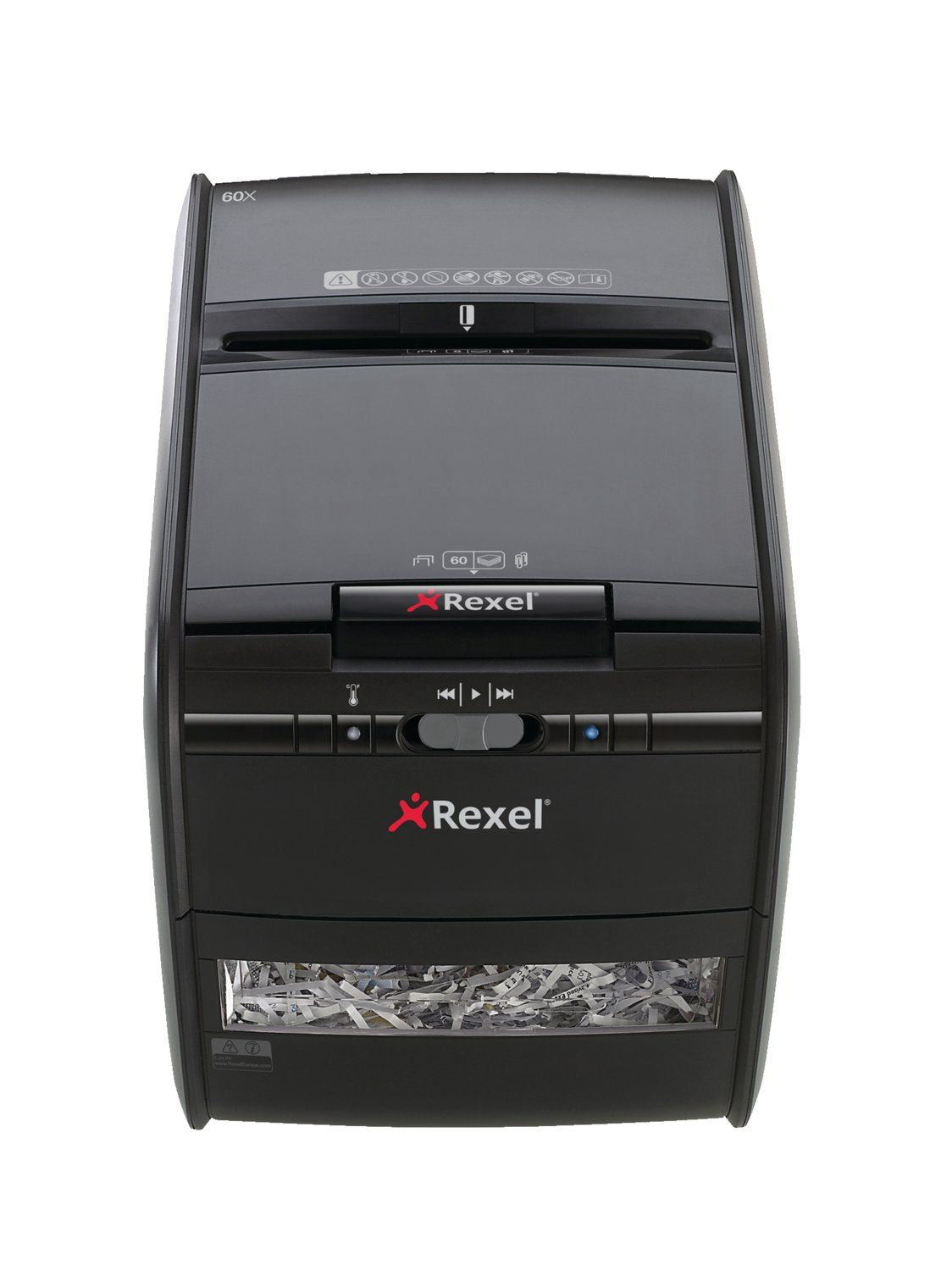 Rexel Auto+ 60X Cross Cut Shredder Black 2103060