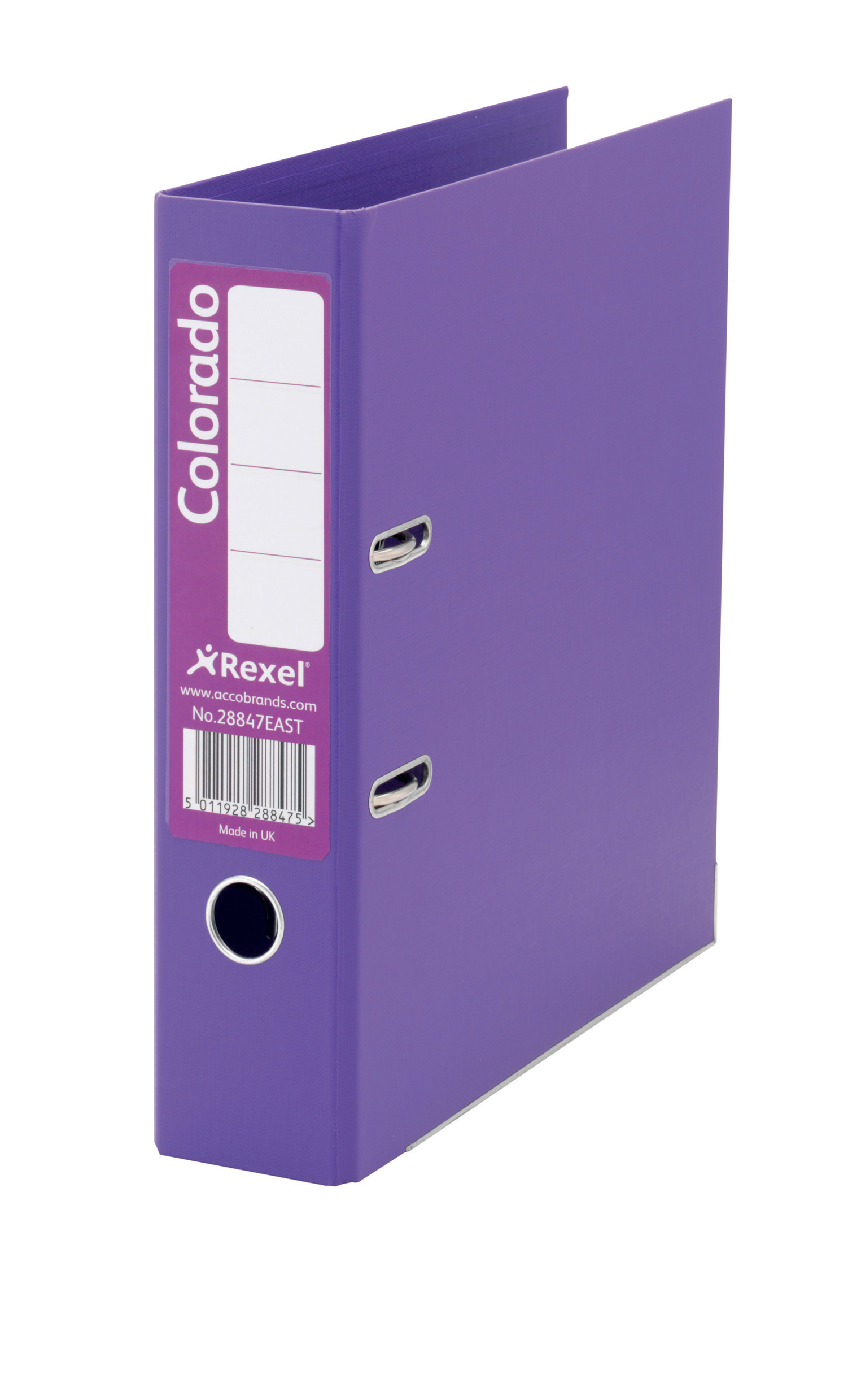 Rexel Colorado Lever Arch File 80mm Foolscap Purple PK10