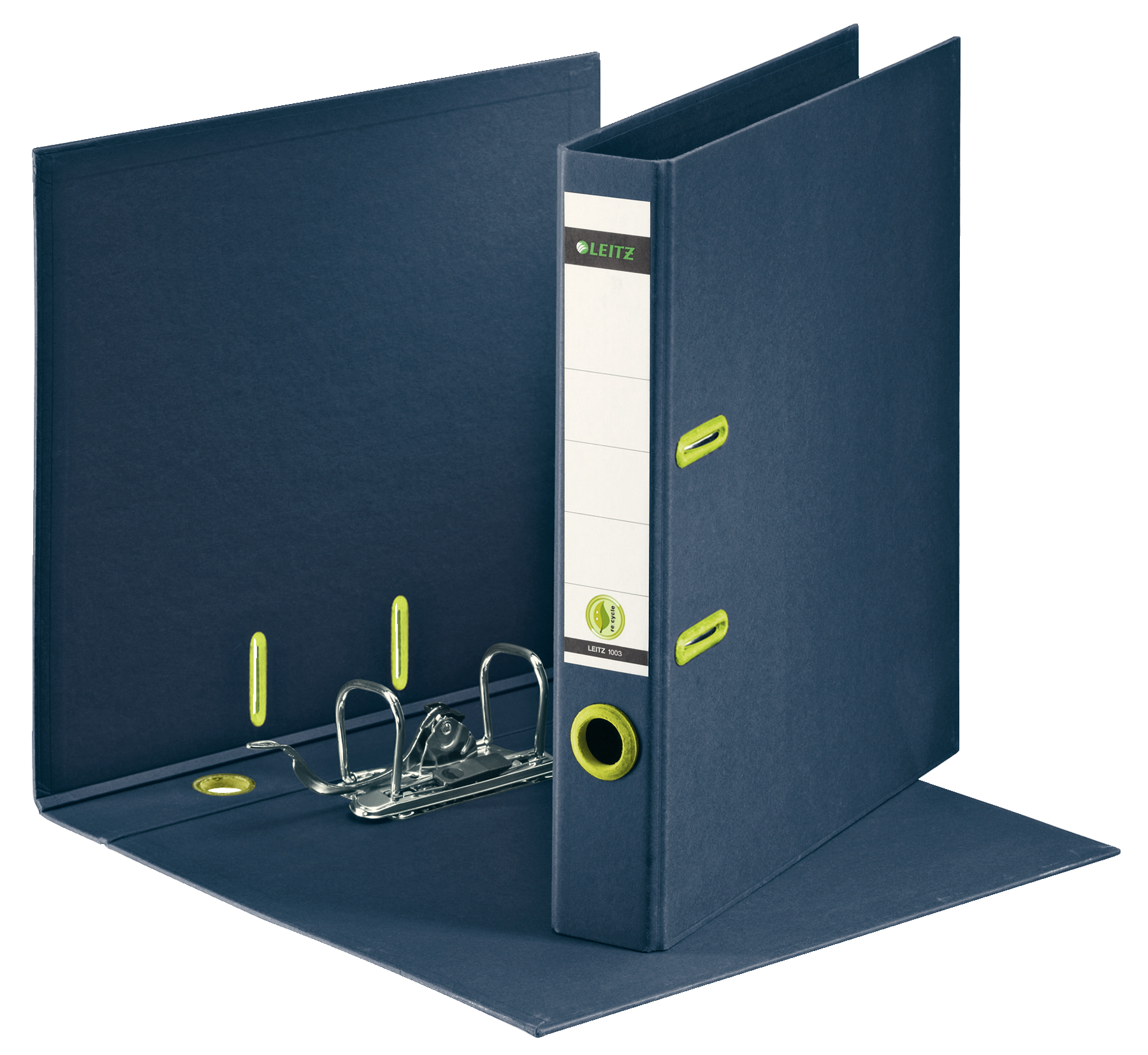 Leitz 180 Recycled Lever Arch File A4 50mm Dark Blue PK10
