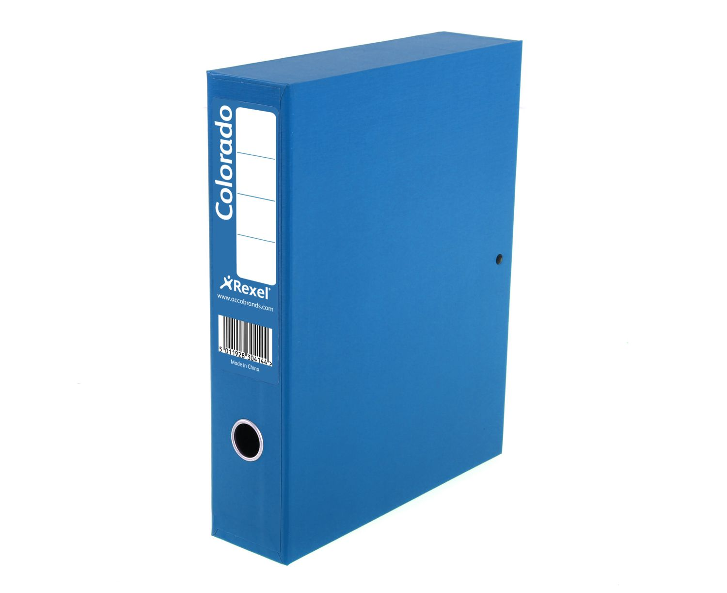 Rexel Colorado Box File 70mm Spine Lock Spring A4 Blue Ref 30443EAST [Pack 5]