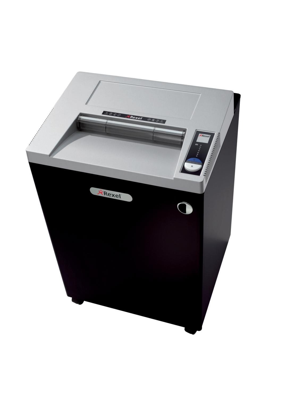 Rexel Wide Entry RLWS35 Strip Cut Shredder 175 Litre 35 Sheet Black/Silver
