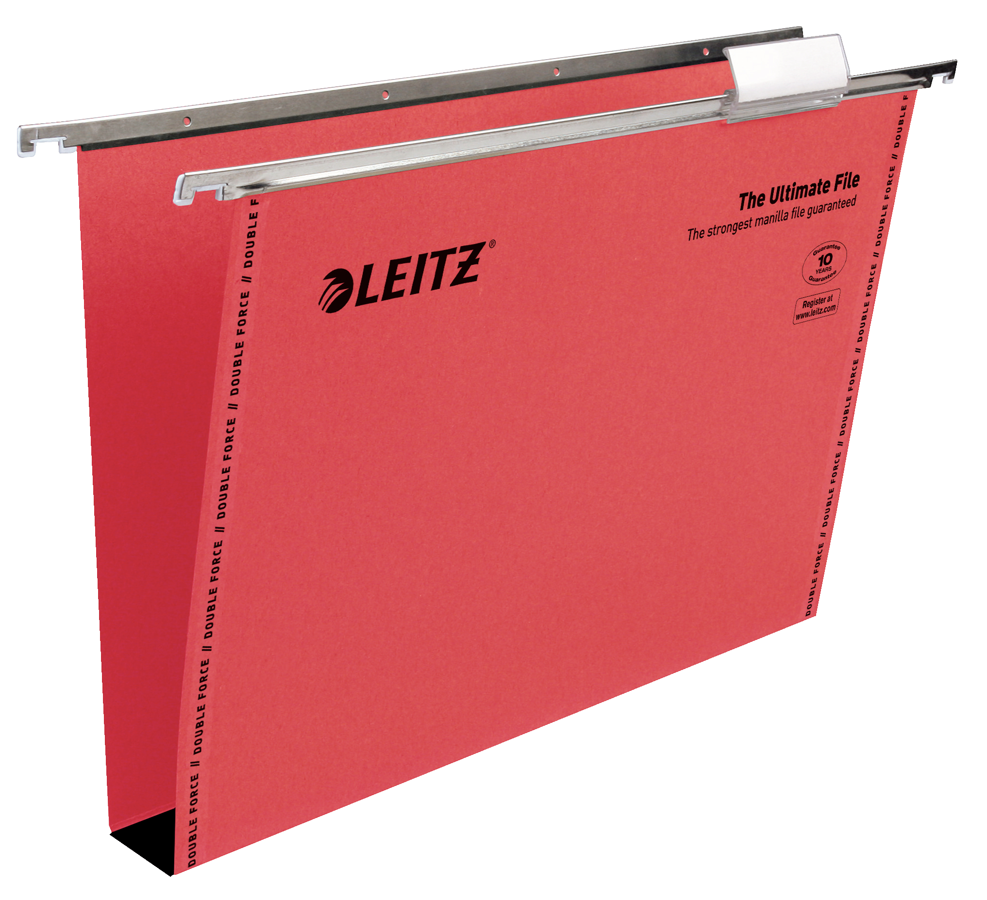 Suspension File Leitz Ultimate Clenched Bar Susp File Foolscap Red BX50