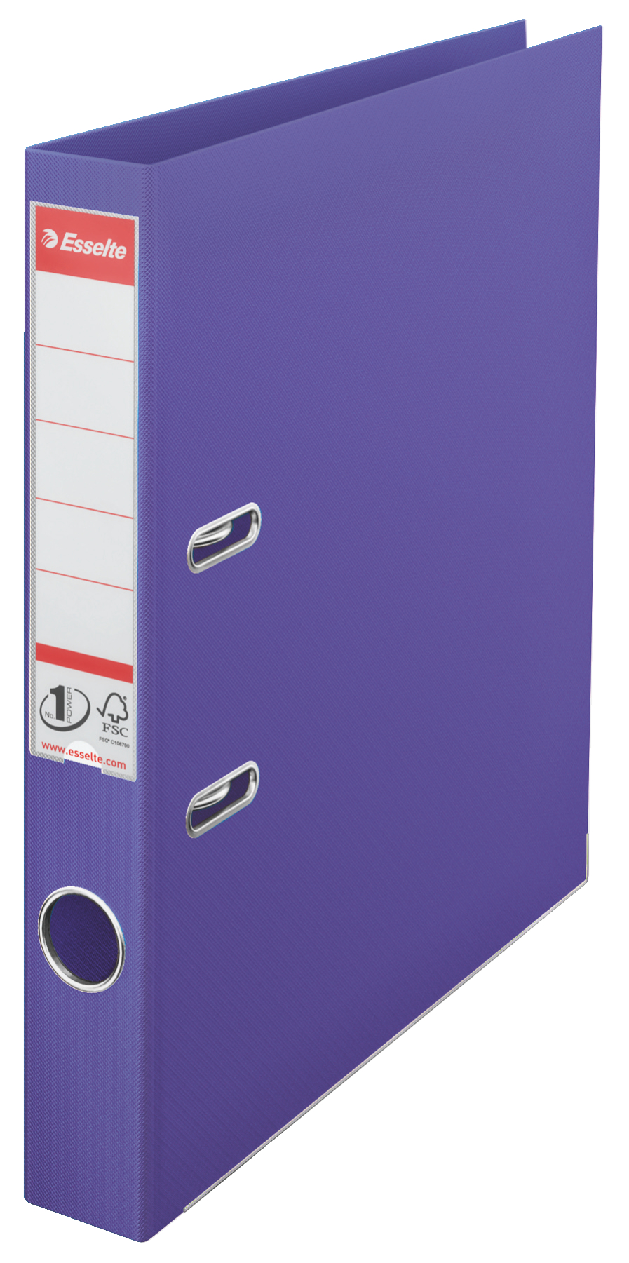 Esselte No.1 Power Lever Arch File A4 PP 50mm Violet  PK10
