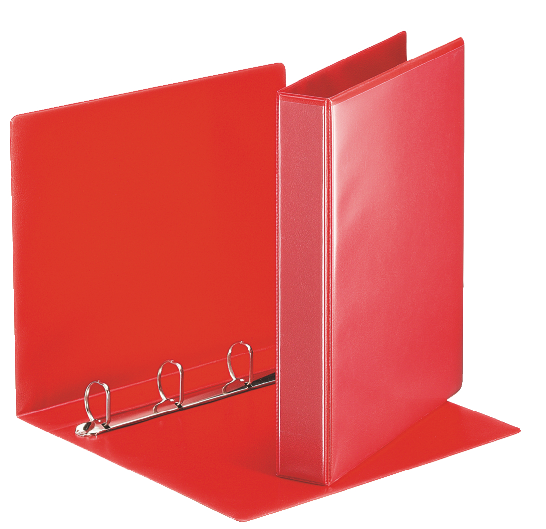 Esselte Essentials Pres Binder A4 30mm 4 D-Ring Red PK10