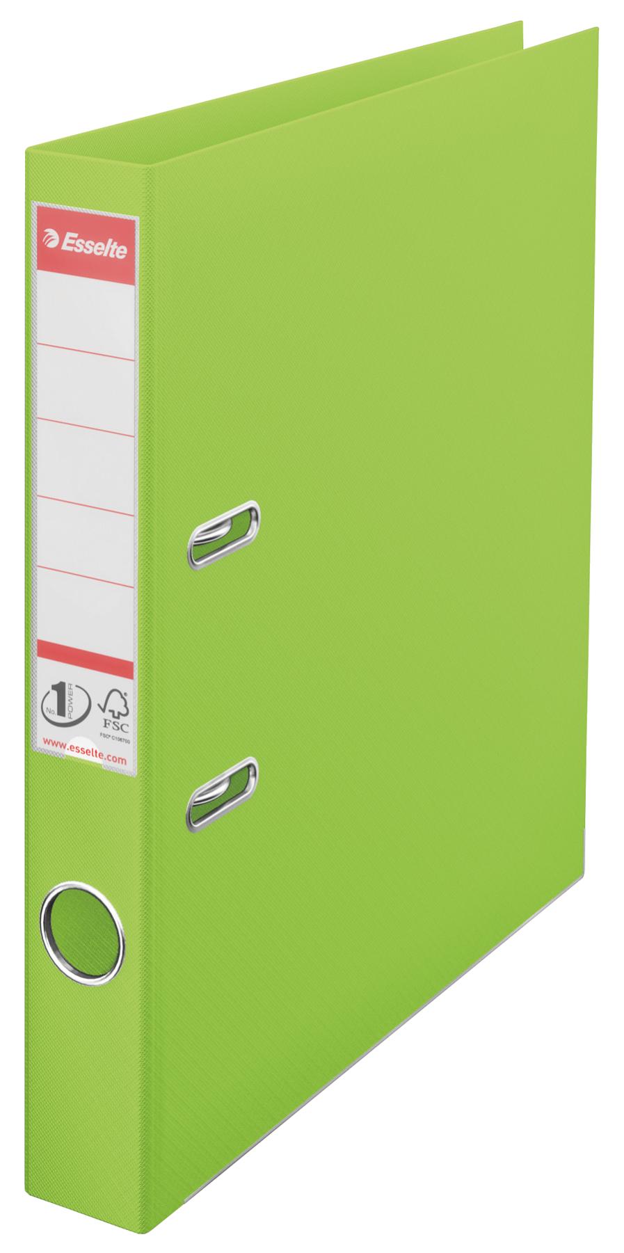 Esselte No.1 VIVIDA Lever Arch File PP A4 50mm Green PK10