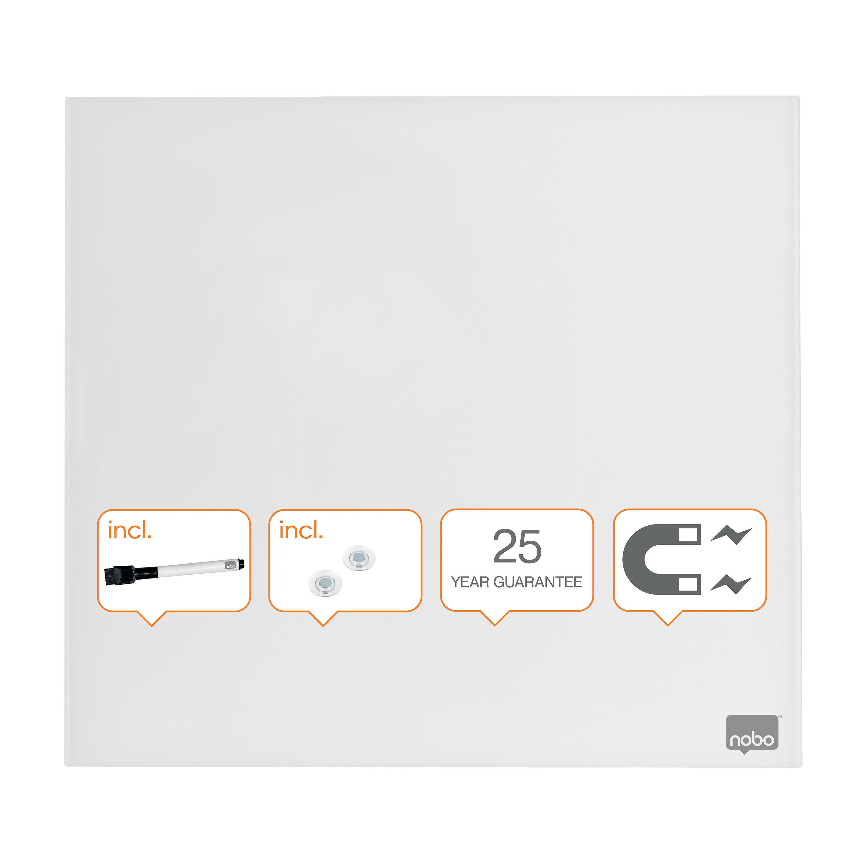 Nobo Diamond Drywipe Board Magnetic 450x450mm White