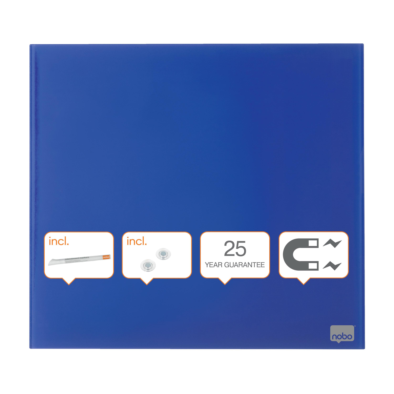 Nobo Diamond Drywipe Board Magnetic 300x300mm Blue