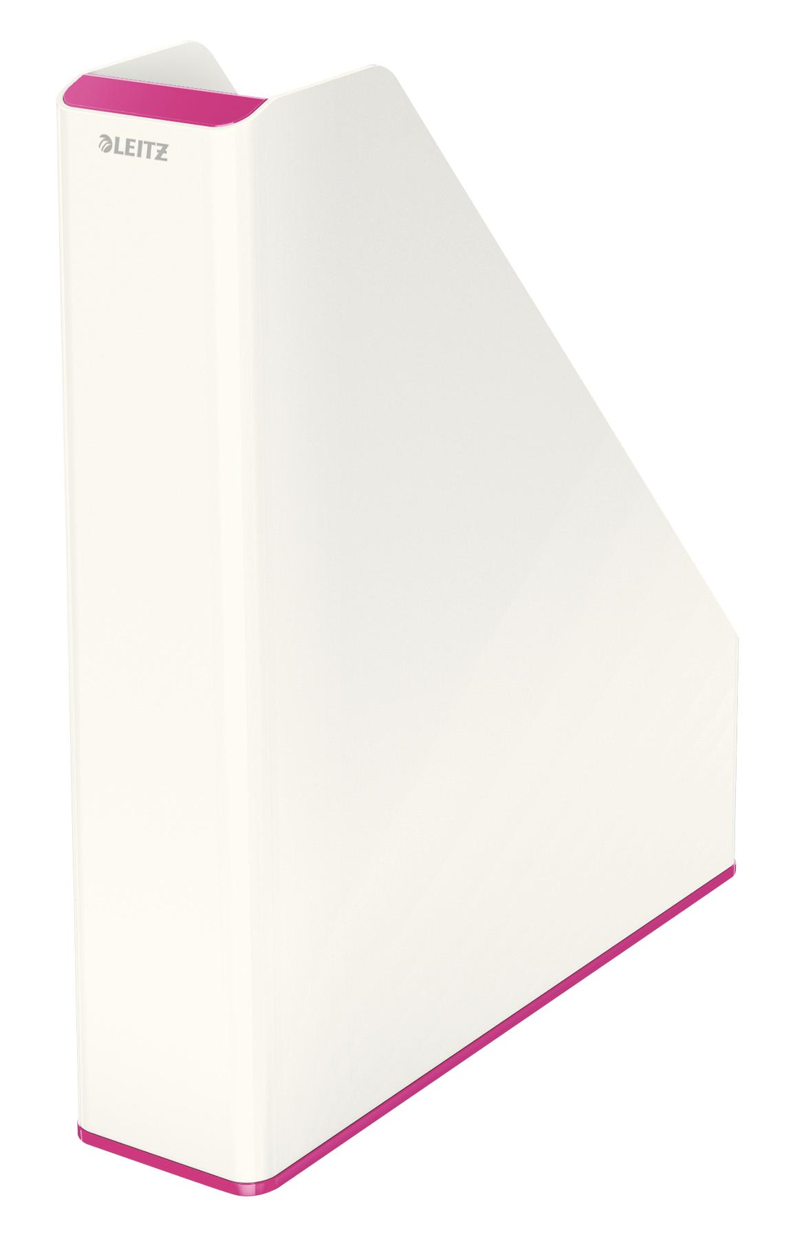 Magazine Files Leitz WOW Dual Colour Magazine File A4 White/Pink 53621023
