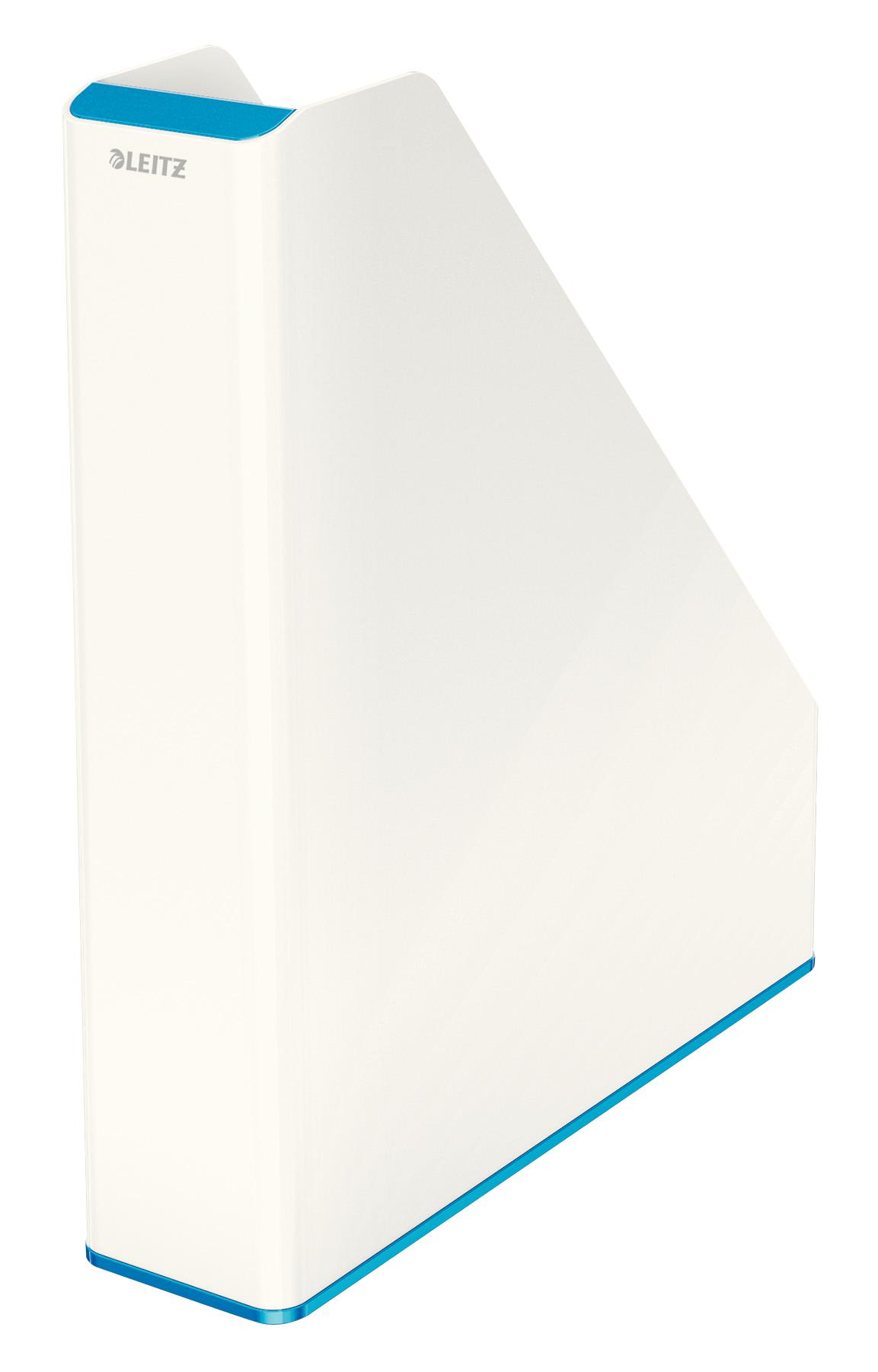 Magazine Files Leitz WOW Dual Colour Magazine File A4 White/Blue 53621036